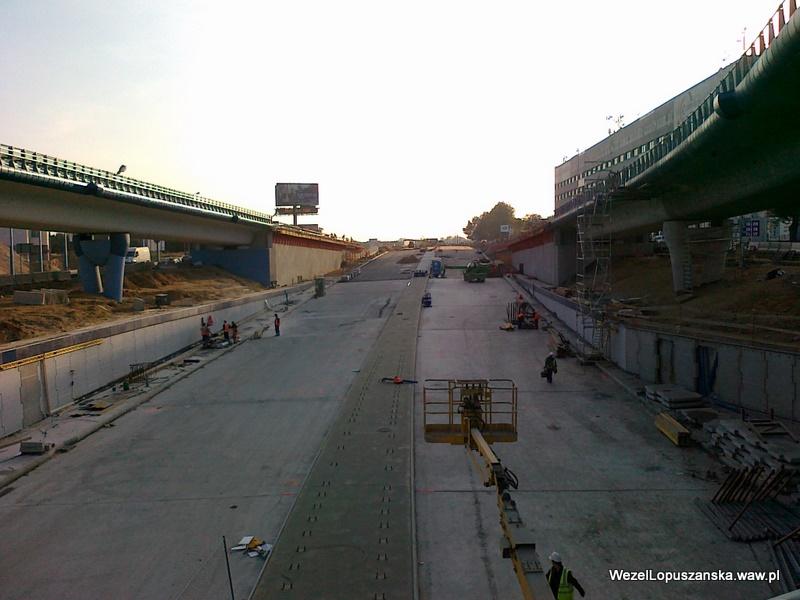 2011.09.29 - Węzeł Łopuszańska - widok znad wanny w stronę Pruszkowa