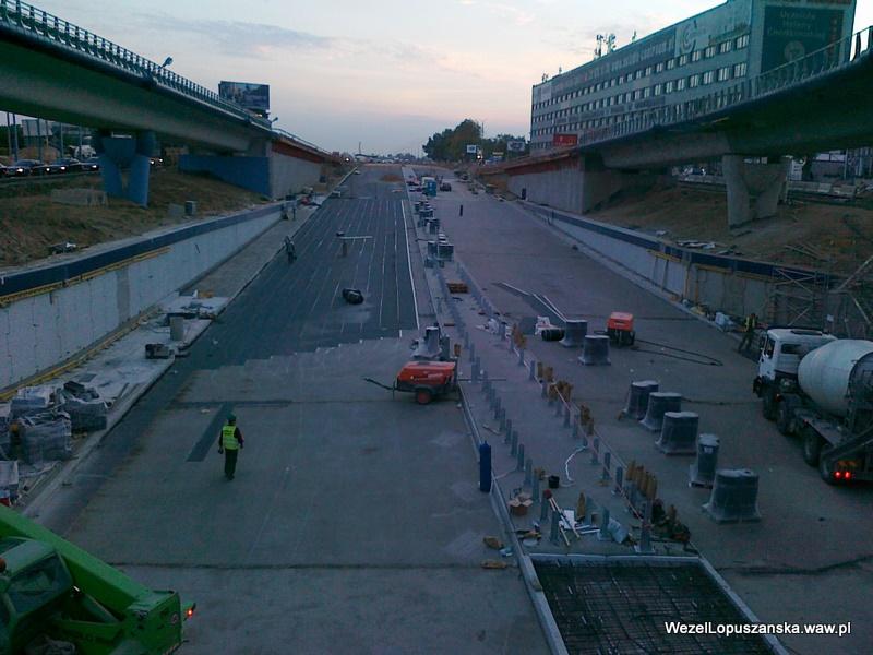 2011.10.05 - Węzeł Łopuszańska - widok znad wanny w stronę Pruszkowa