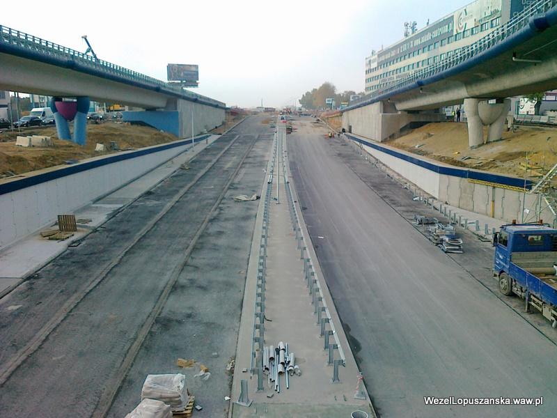 2011.10.21 - Węzeł Łopuszańska - widok znad wanny w stronę Pruszkowa