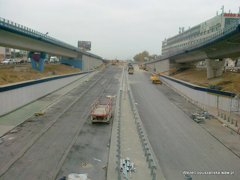 2011.10.24 - Węzeł Łopuszańska - widok znad wanny w stronę Pruszkowa