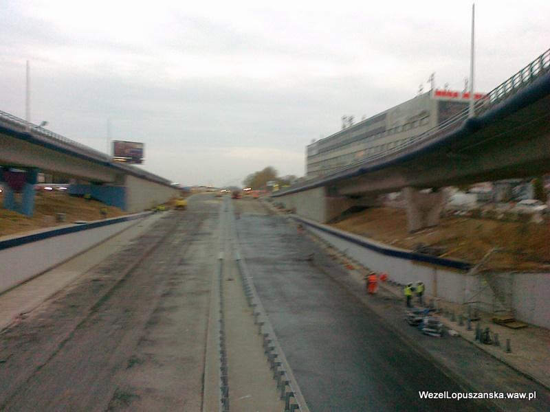 2011.10.26 - Węzeł Łopuszańska - widok znad wanny w stronę Pruszkowa