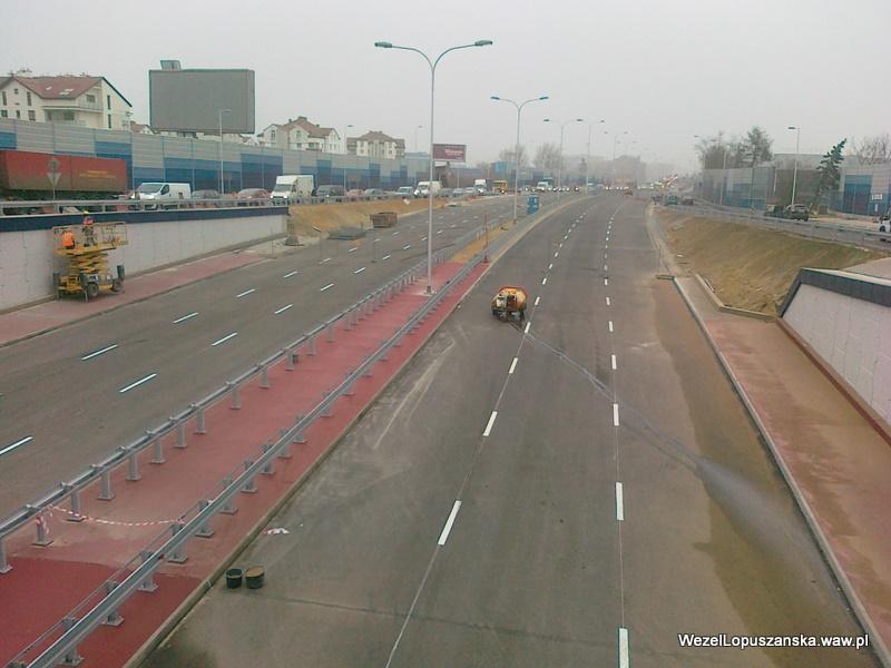 2011.11.18 - Węzeł Łopuszańska Warszawa - widok znad wanny w stronę centrum