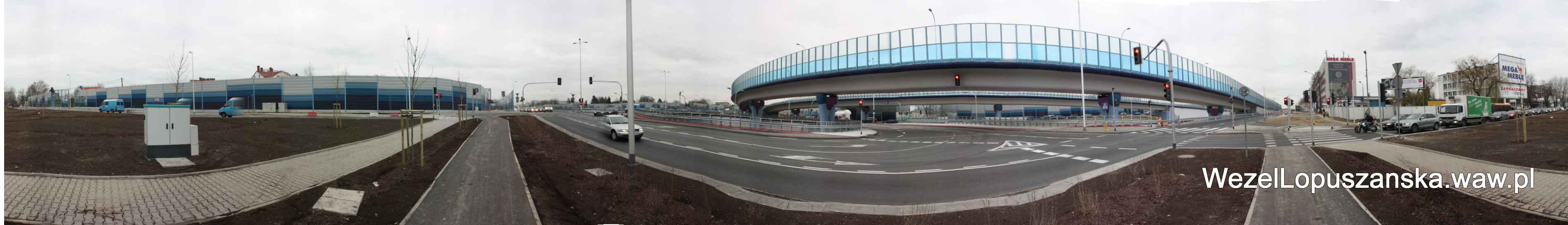 2011.12.03 - Węzeł Łopuszańska - panorama od strony Kleszczowej