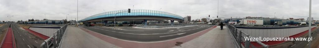 2011.12.03 - Węzeł Łopuszańska - panorama od strony centrum
