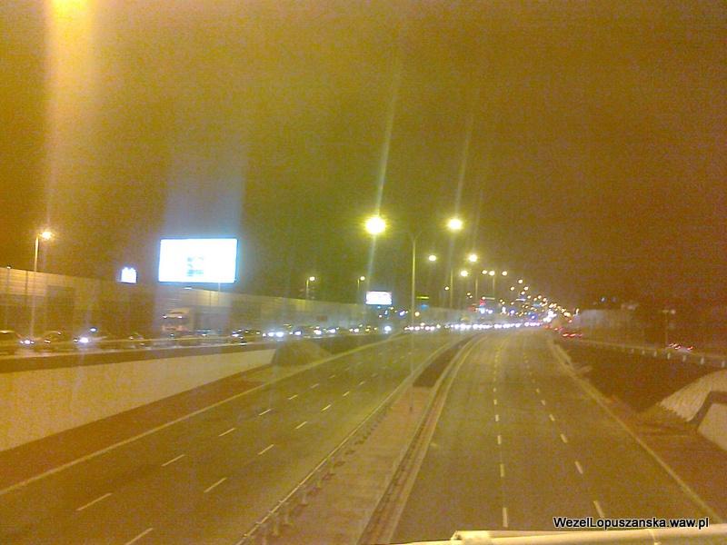 2011.12.29 - Węzeł Łopuszańska Warszawa - widok znad wanny w stronę centrum
