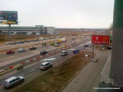 2011.12.30 - Węzeł Łopuszańska - wiadukt w stronę Pruszkowa otwarty
