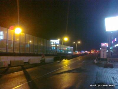 2011.12.30 - Węzeł Łopuszańska - wieczór - al. Jerozolimskie w stronę Pruszkowa