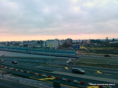 2011.12.30 - Węzeł Łopuszańska - wiadukt z al. Jerozolimskich w Łopuszańską otwarty