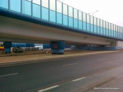 2012.01.09 - Węzeł Łopuszańska - układanie kostki brukowej pod wiaduktami na Łopuszańskiej
