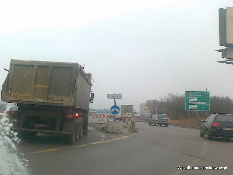2012.01.11 - Węzeł Łopuszańska - dojazd od Pruszkowa