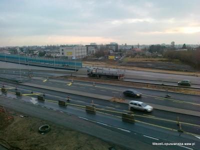 2012.01.12 - Węzeł Łopuszańska - widok z góry na aleje Jerozolimskie