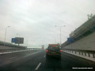 2012.01.15 - Węzeł Łopuszańska - przejazd wanną