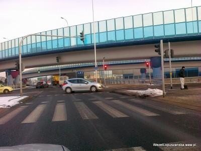 2012.01.26 - Węzeł Łopuszańska Warszawa - działająca sygnalizacja dla rowerów