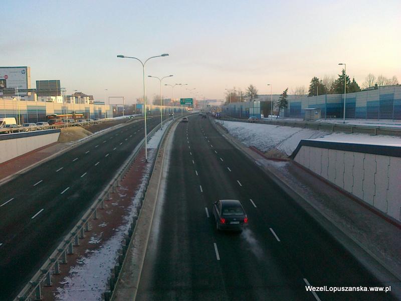 2012.02.01 - Węzeł Łopuszańska Warszawa - nad wanną w stronę centrum