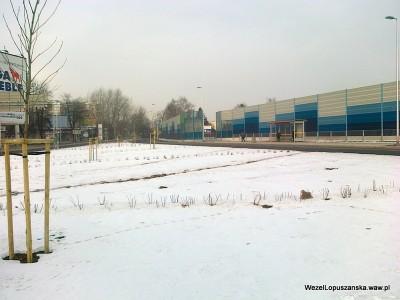 2012.02.09 - Węzeł Łopuszańska Warszawa - widok z ronda w stronę ulicy Kleszczowej