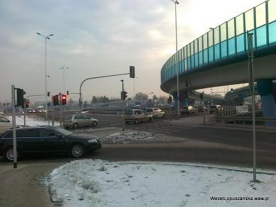 2012.02.09 - Węzeł Łopuszańska Warszawa - rondo