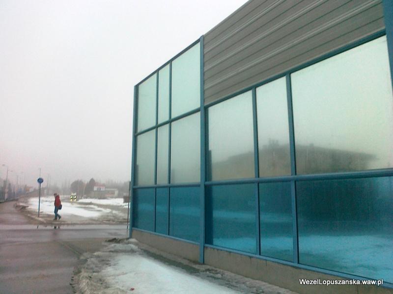 2012.02.22 - Węzeł Łopuszańska Warszawa - panele akustyczne przy Łopuszańskiej w pobliżu Jutrzenki