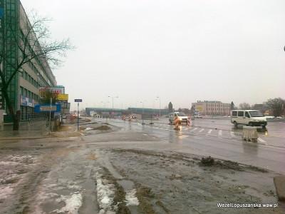 2012.02.23 - Węzeł Łopuszańska Warszawa - aleje Jerozolimskie okolice ulicy Krańcowej widok w stronę węzła