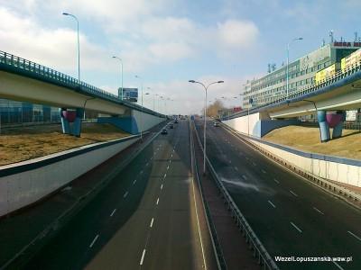 2012.02.29 - Węzeł Łopuszańska Warszawa - widok z nad wanny w stronę Pruszkowa