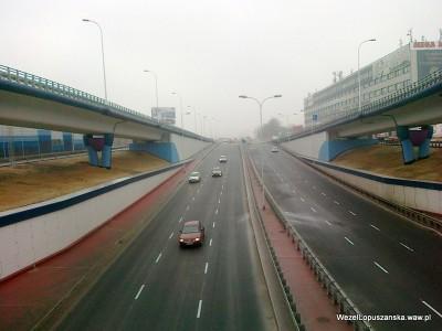 2012.03.01 - Węzeł Łopuszańska Warszawa - widok z nad wanny w stronę Pruszkowa