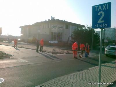 2012.03.08 - Węzeł Łopuszańska Warszawa - STRABAG w akcji na ulicy Jutrzenki