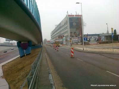 2012.03.21 - Węzeł Łopuszańska Warszawa - jazda pod prąd