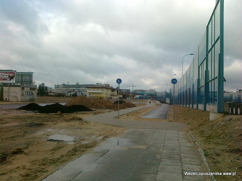 2012.04.02 - Węzeł Łopuszańska Warszawa - wzdłuż Łopuszańskiej