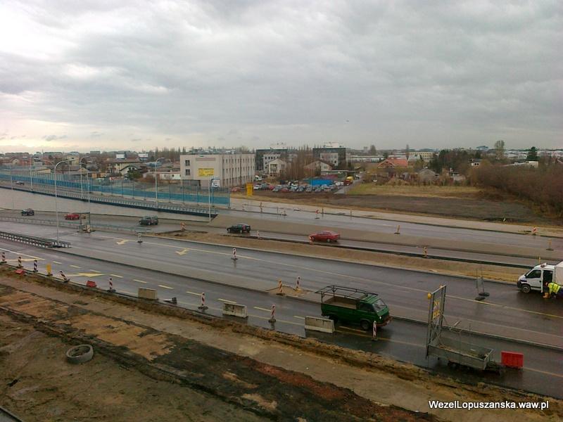 2012.04.02 - Węzeł Łopuszańska Warszawa - widok z góry na aleje Jerozolimskie