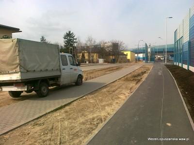 2012.04.03 - Węzeł Łopuszańska Warszawa - wzdłuż Łopuszańskiej od strony Pruszkowa