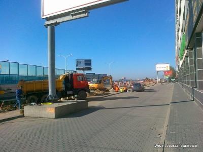 2012.04.26 - Węzeł Łopuszańska Warszawa - prace w alejach Jerozolimskich w stronę Pruszkowa