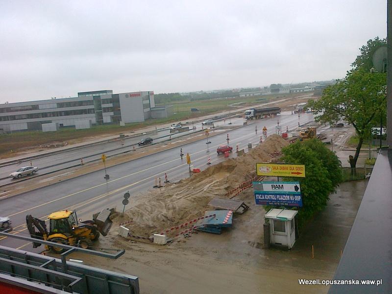 2012.05.16 - Węzeł Łopuszańska Warszawa - widok z góry na aleje Jerozolimskie