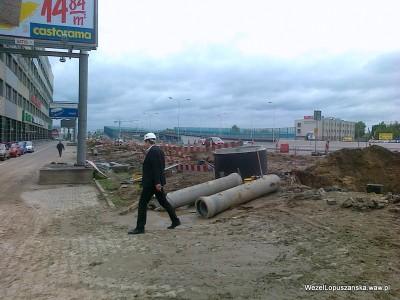 2012.05.17 - Węzeł Łopuszańska Warszawa - prace przy skrzyżowaniu Krańcowej z alejami Jerozolimskimi