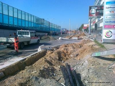 2012.05.23 - Węzeł Łopuszańska Warszawa - prace w alejach Jerozolimskich w stronę Pruszkowa