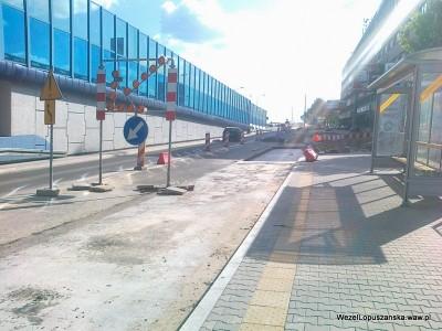 2012.05.24 - Węzeł Łopuszańska Warszawa - prace w alejach Jerozolimskich w stronę Pruszkowa