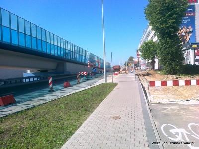 2012.05.25 - Węzeł Łopuszańska Warszawa - prace w alejach Jerozolimskich w stronę Pruszkowa