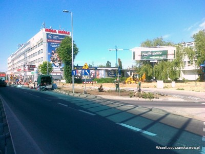 2012.05.28 - Węzeł Łopuszańska Warszawa - prace w alejach Jerozolimskich w stronę Pruszkowa