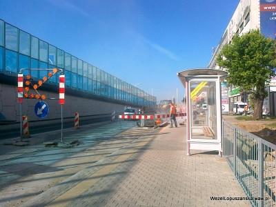 2012.05.29 - Węzeł Łopuszańska Warszawa - prace w alejach Jerozolimskich w stronę Pruszkowa