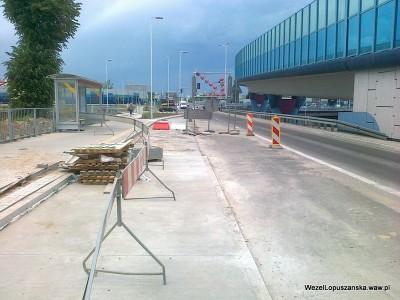 2012.05.29 - Węzeł Łopuszańska Warszawa - widok w stronę centrum