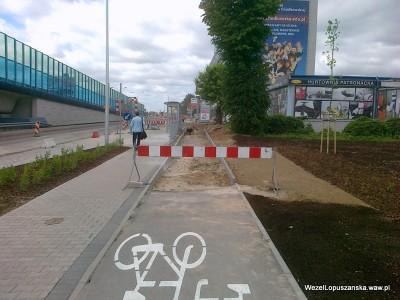 2012.05.30 - Węzeł Łopuszańska Warszawa - widok w stronę Pruszkowa