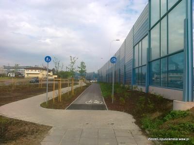 2012.06.12 - Węzeł Łopuszańska Warszawa - ścieżka rowerowa wzdłuż Łopuszańskiej