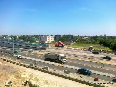 2012.06.18 - Węzeł Łopuszańska Warszawa - widok z góry na aleje Jerozolimskie