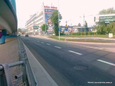 2012.06.20 - Węzeł Łopuszańska Warszawa - widok w stronę Pruszkowa