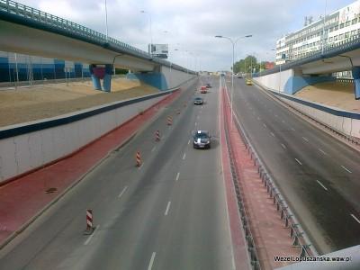2012.07.13 - Węzeł Łopuszańska Warszawa - widok znad wanny w stronę Pruszkowa
