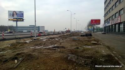 2013.02.27 - Węzeł Łopuszańska Warszawa - budowa a właściwie błoto przy Jerozolimskie 200