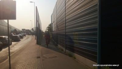 2013.07.09 - Węzeł Łopuszańska Warszawa - rowerzyści