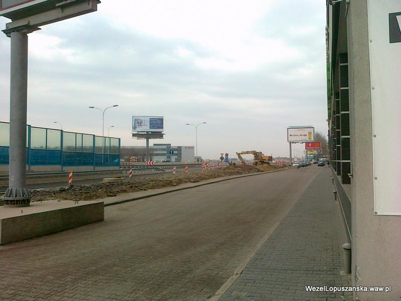 2012.04.04 - Węzeł Łopuszańska Warszawa - aleje Jerozolimskie w stronę Pruszkowa