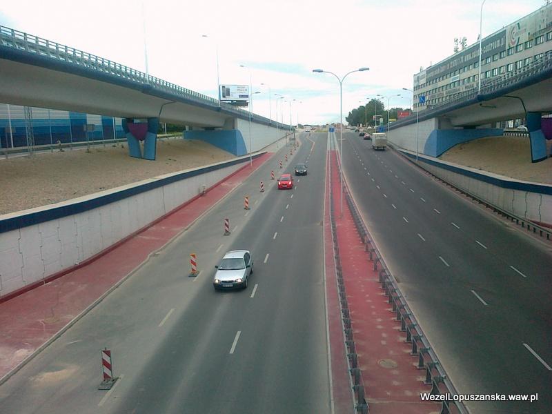 2012.07.18 - Węzeł Łopuszańska Warszawa - widok znad wanny w stronę Pruszkowa